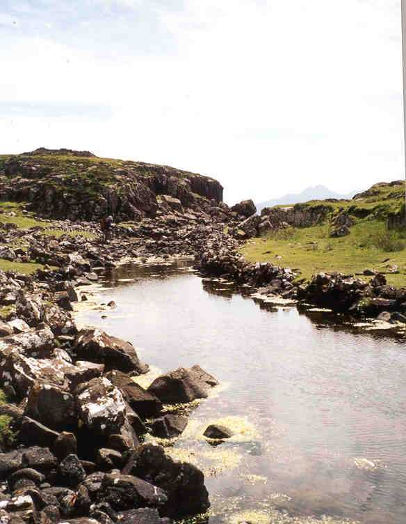 Rubh an Dunain – The Viking Canal is pictured here from a low angle as we can visualise the twists and turns of the trail.