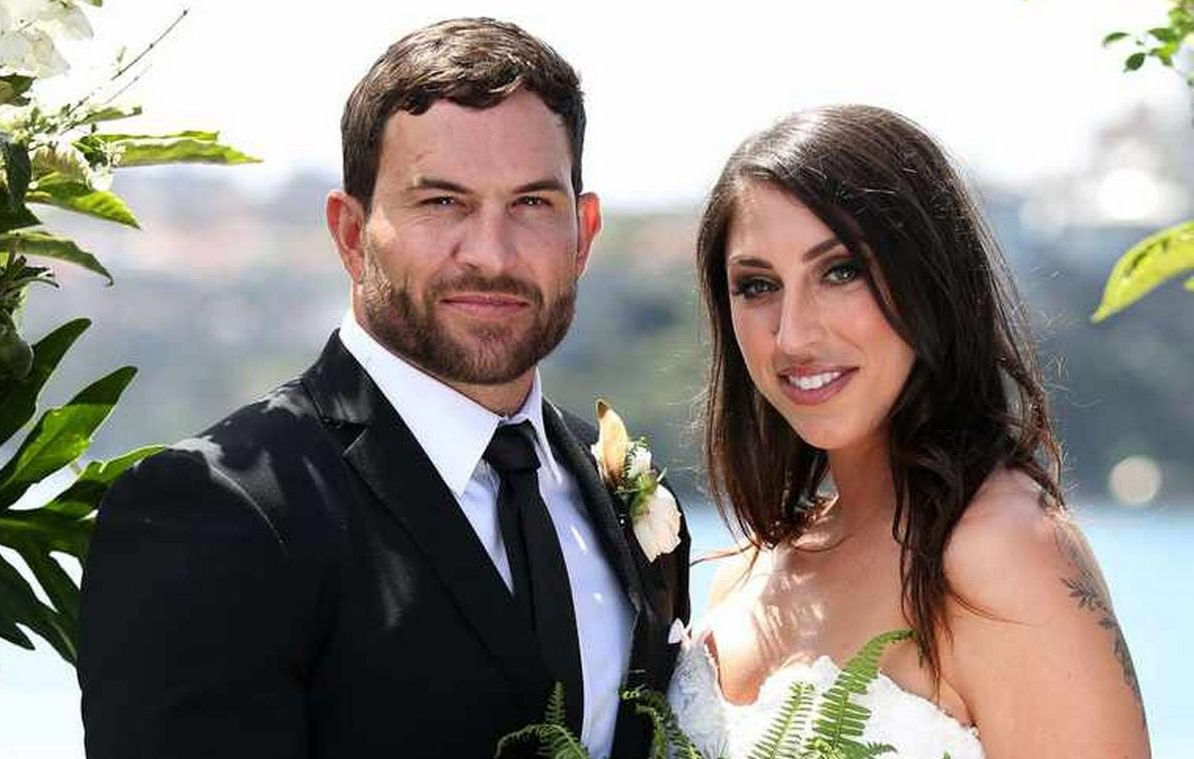 MAFS Stars Dan Webb and Tamara Joy are pictured here on their wedding day.