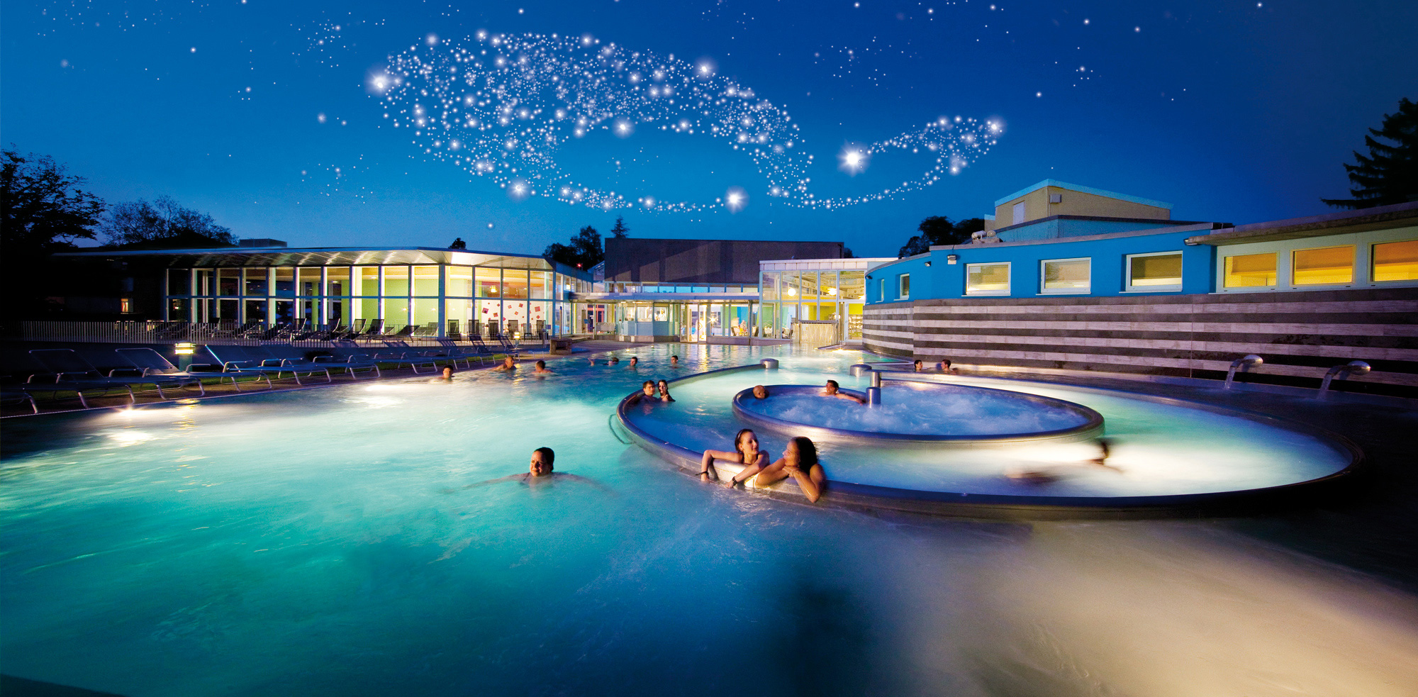 This image shows Sole Uno Wellness, the infamous Whirlwind Pool in Switzerland.