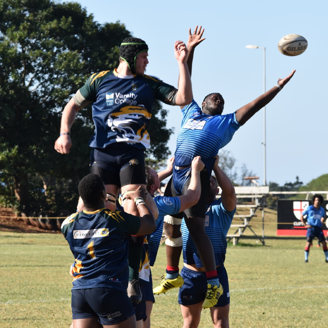 This image shows a varsity rugby match.