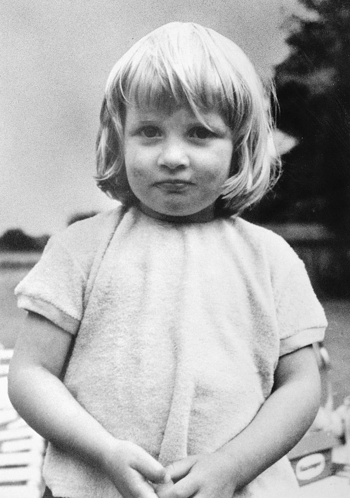 This image shows Lady Diana as a young child at Sandringham, Norfolk, where she was raised.
