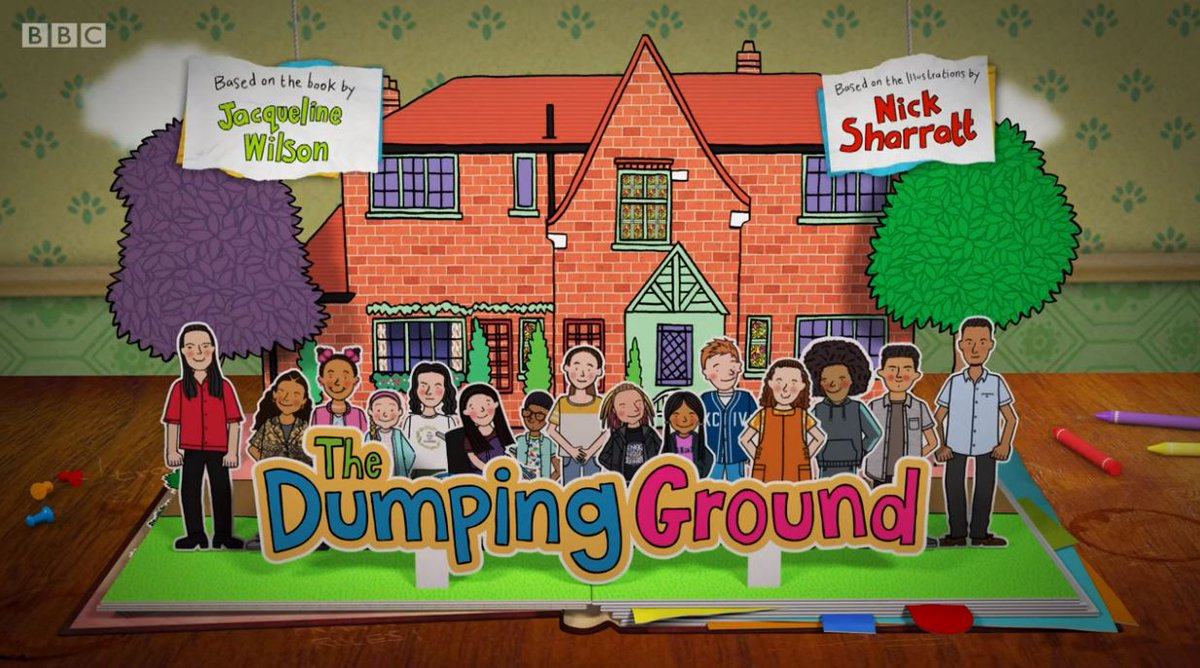 This image is taken from the opening credits of The Dumping Ground, a Tracy Beaker spin off.