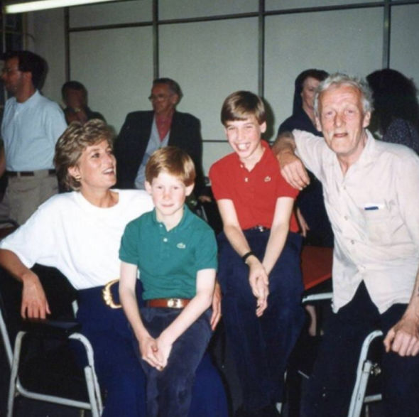 Princess Diana is pictured here at Centrepoint with Harry and William greeting one of the homeless individuals.