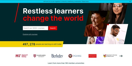 This image is a screenshot of the edx.org website.