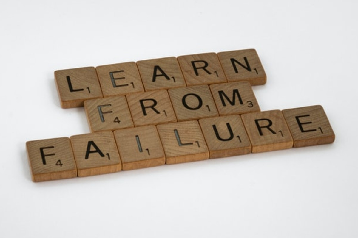"""In this image, Scrabble pieces spell """"Learn from failure"""""""